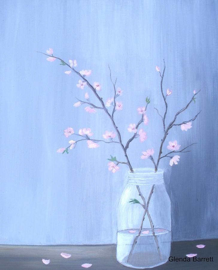 Original Painting - Pink Blossoms by Glenda Barrett