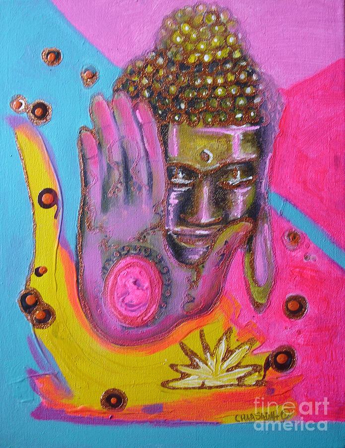 Pink Buddha by Donna Chaasadah