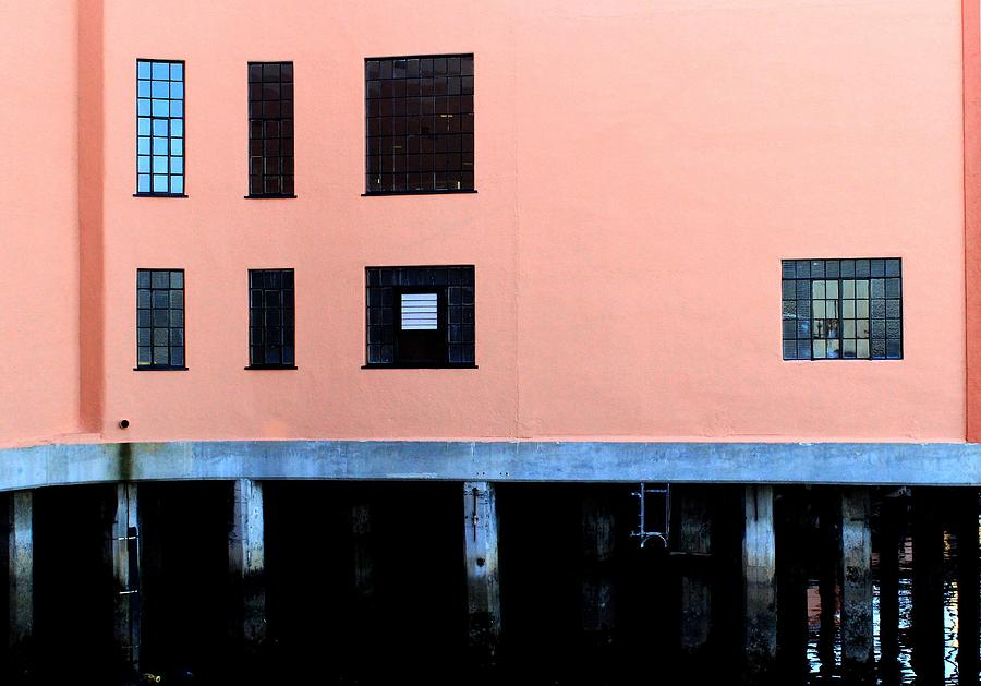 Wharf Photograph - Pink Building On The Wharf by Eve Paludan