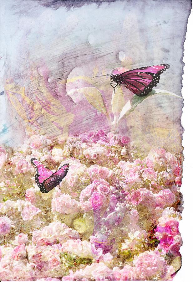 Pink Digital Art - Pink Butterflies by Juli Cromer