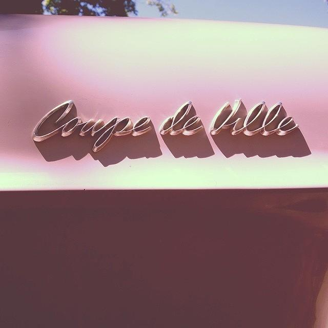 Classic Car Photograph - Pink Cadillac by Heidi Hermes