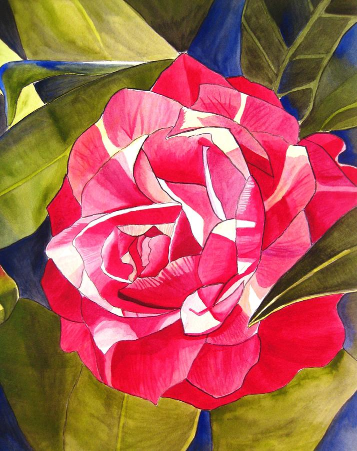 Camellia Painting - Pink Camellia by Sacha Grossel