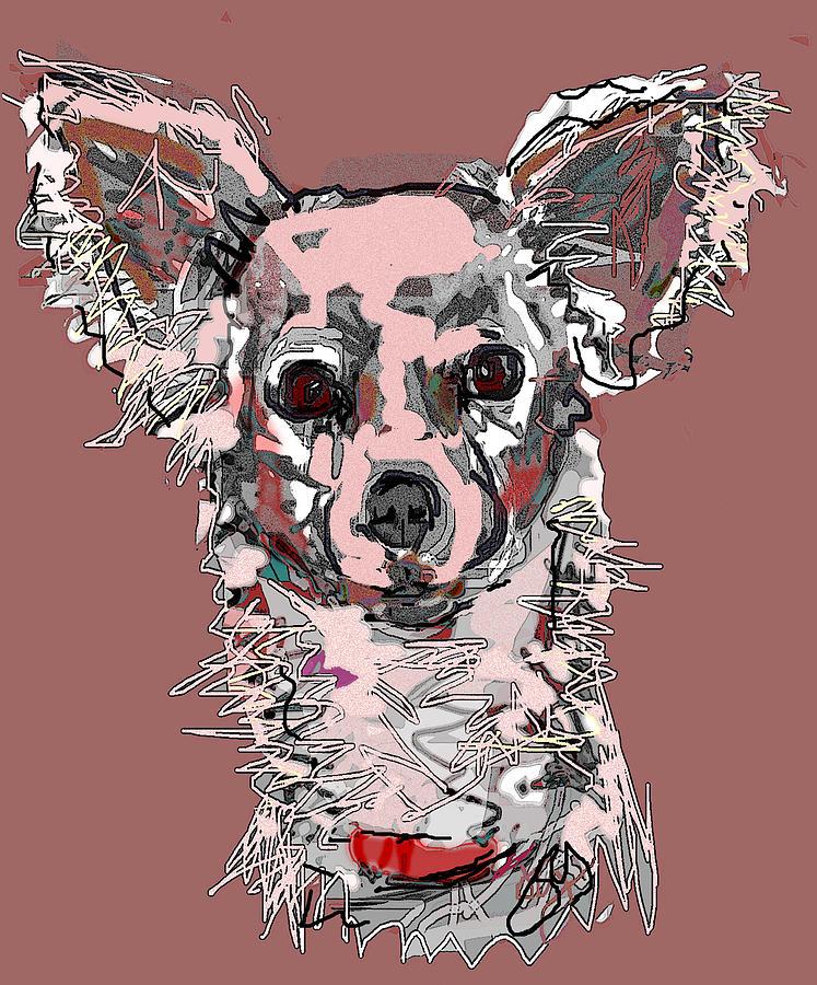 Pink Chihuahua Digital Art