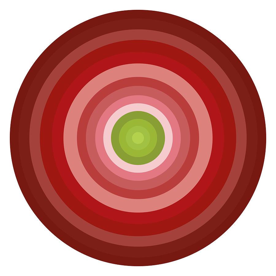 Pink Painting - Pink Circles by Frank Tschakert
