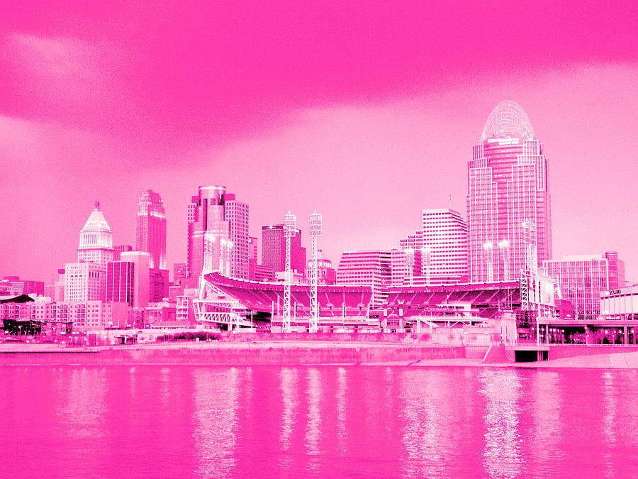 pink city cincinnati photograph by greg reese radio clip art images radio clip art with a face