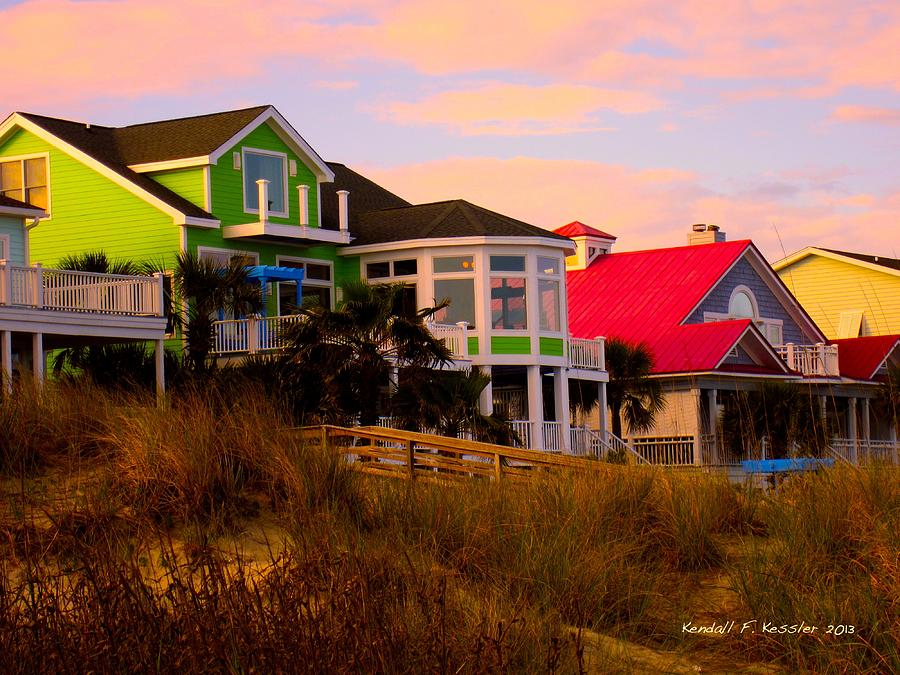 Kendall Kessler Photograph - Pink Clouds At Isle Of Palms by Kendall Kessler