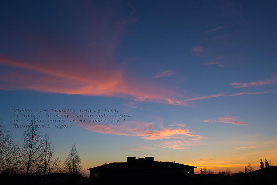 Pink Photograph - Pink Clouds by Rima Biswas