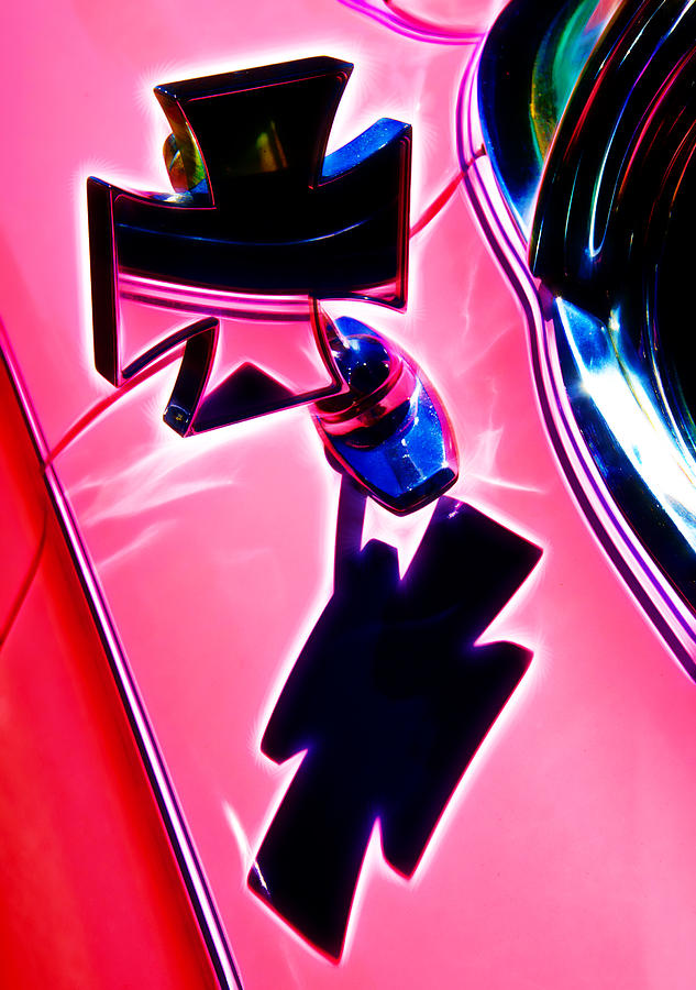 Street Rod Photograph - Pink Custom Mirrors by Phil motography Clark