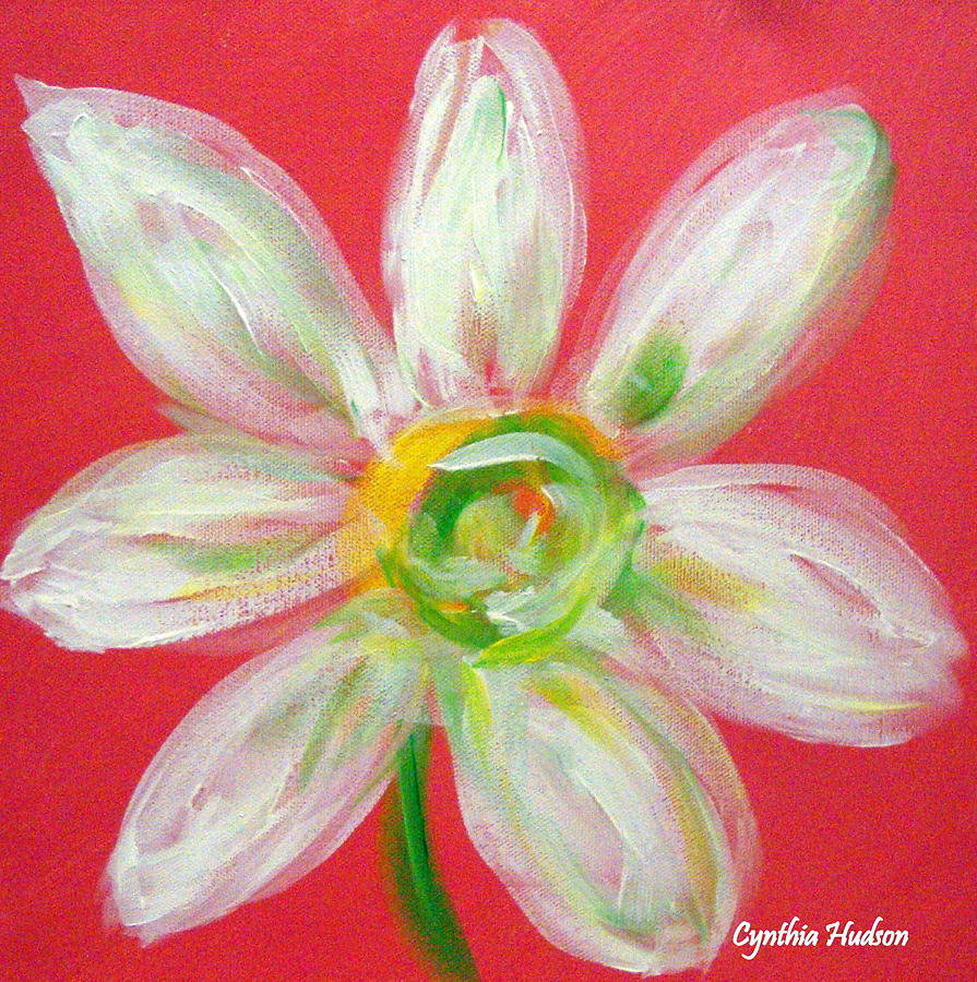 Pink Daisy Painting - Pink Daisy by Cynthia Hudson