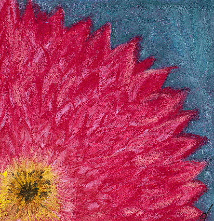 Pink Painting - Pink Daisy by Dana Strotheide