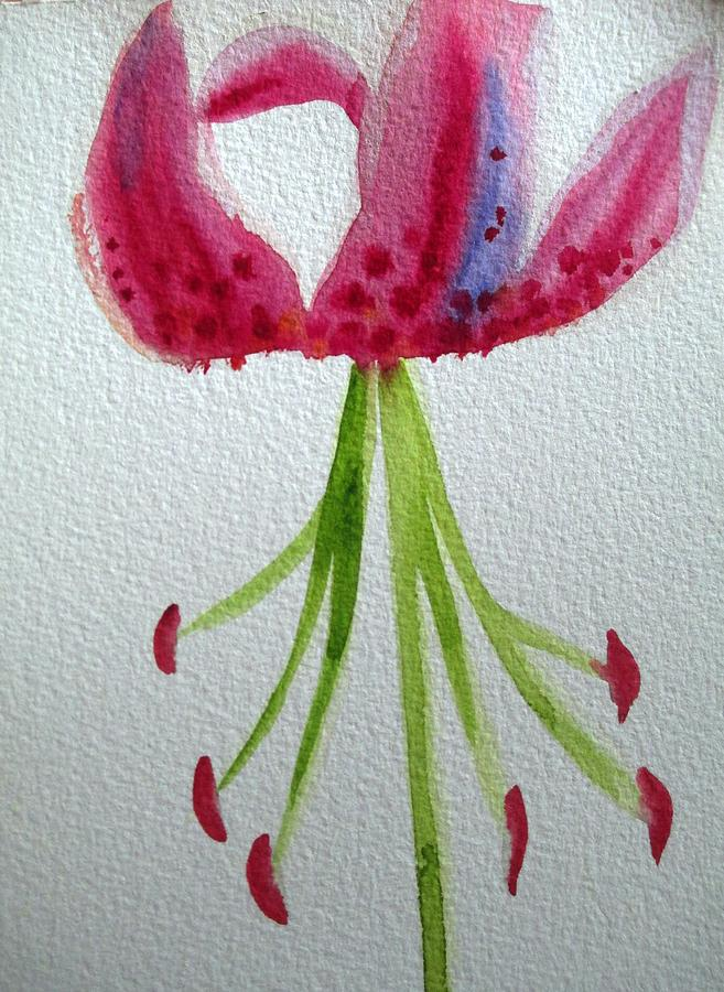 Pink Lily Painting - Pink Day Lily by Sacha Grossel