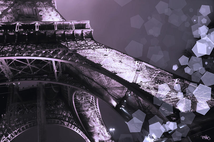 Evie Photograph - Pink Eiffel French Icon by Evie Carrier