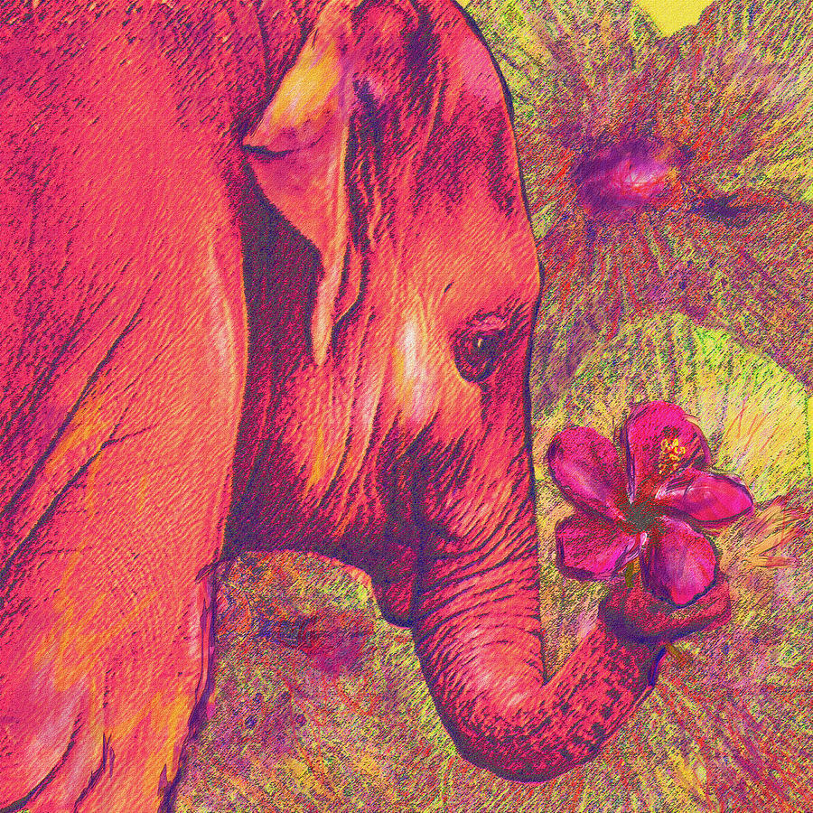 red traditional elephant - photo #37