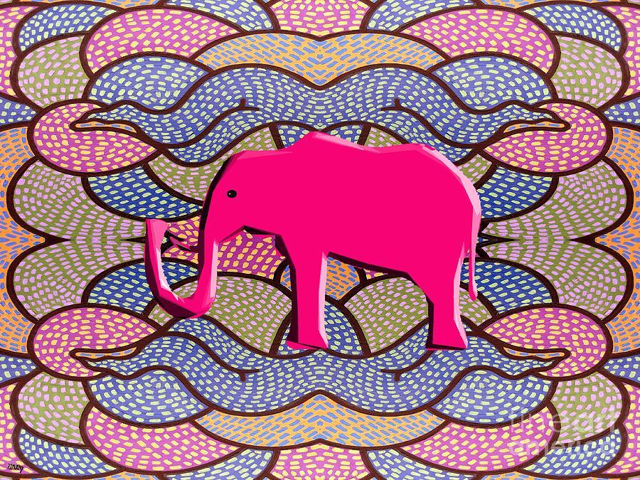 Elephants Painting - Pink Elephant by Patrick J Murphy