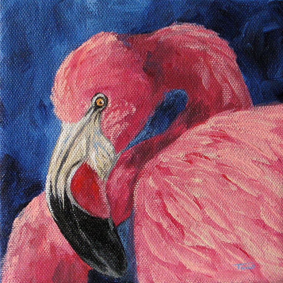 Pink Flamingo Painting - Pink Flamingo Iv by Torrie Smiley
