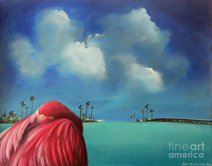 Acrylics Painting - Pink Flamingo by Artist ForYou