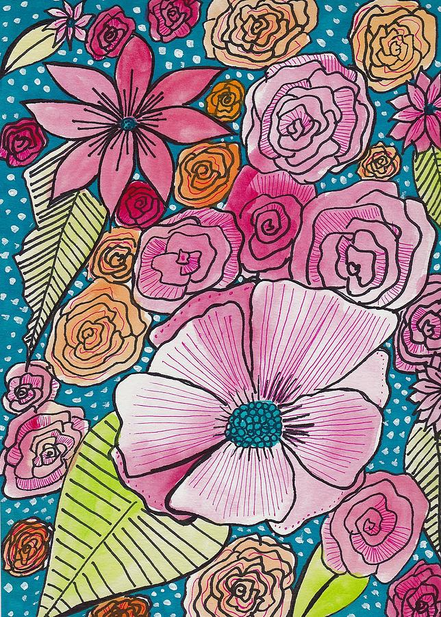 Pink Floral Pattern Painting