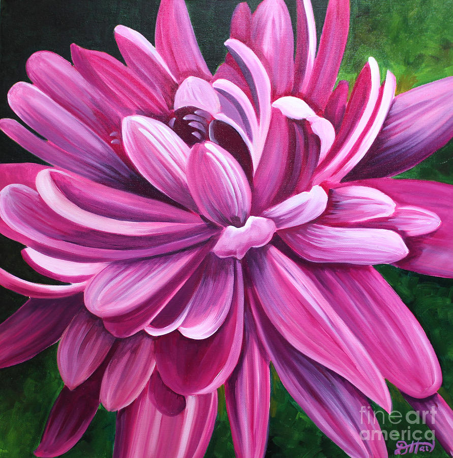 Pink Flower Fluff Painting By Debbie Hart