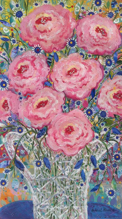 Pink Painting - Pink Roses by Deborah Burow