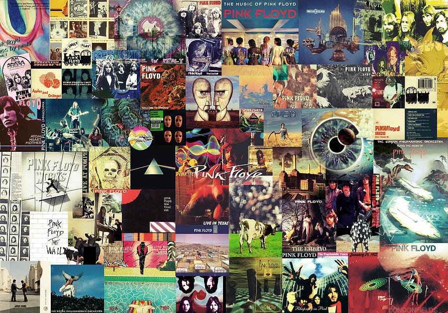 Pink Floyd Digital Art - Pink Floyd Collage II by Taylan Apukovska