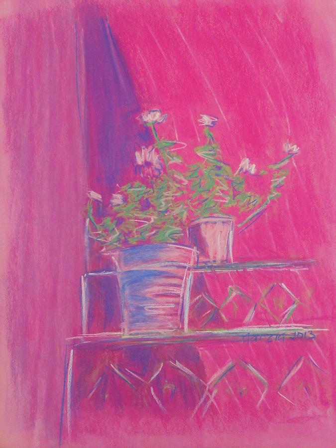 San Miguel De Allende Pastel - Pink Geraniums by Marcia Meade