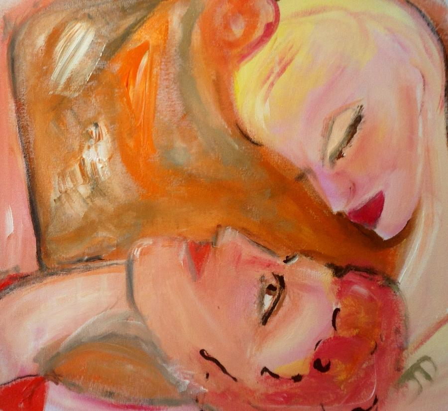 Pink Painting - Pink Grapefruit The Ballet by Judith Desrosiers