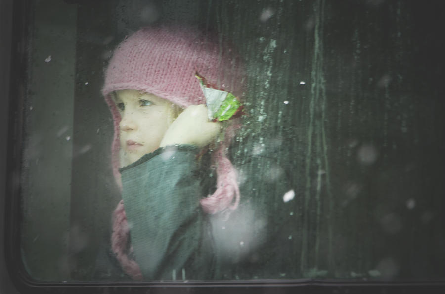 Children Photograph - Pink Hat by Valerie Rosen