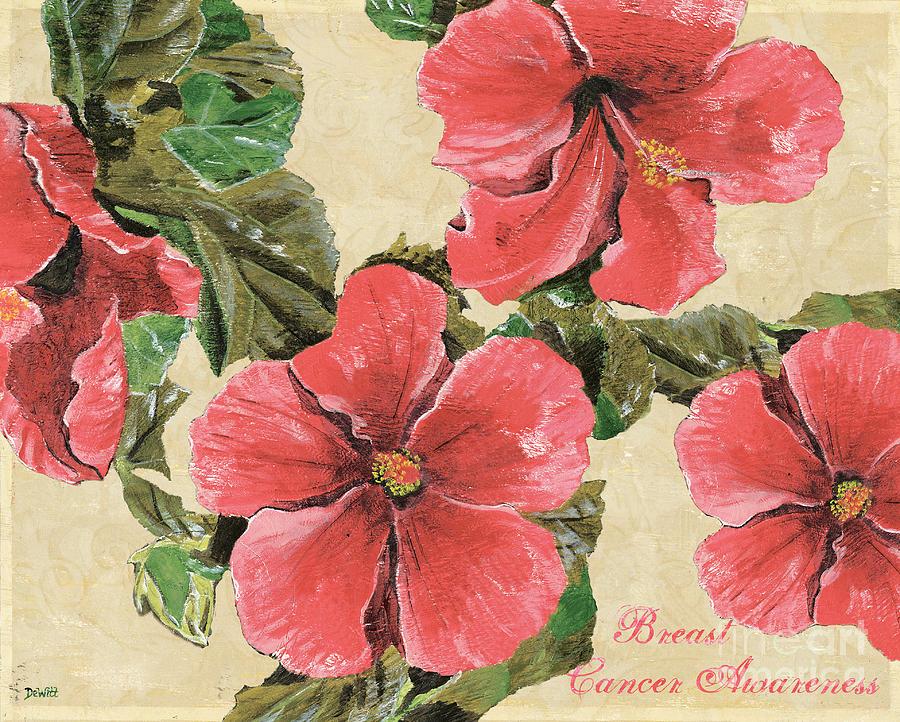 Floral Painting - Pink Hibiscus by Debbie DeWitt