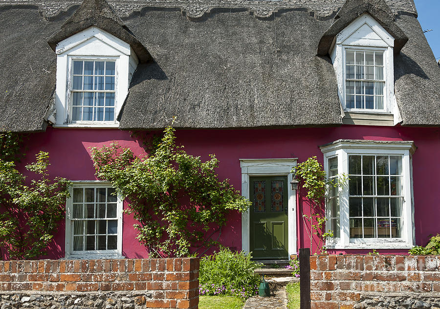 Architecture Photograph - Pink House by Svetlana Sewell