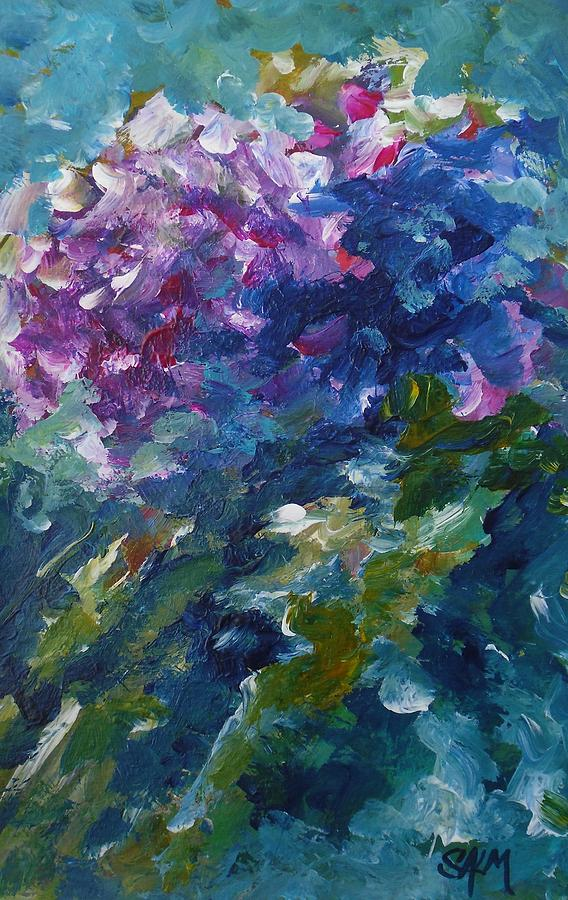 Floral Painting - Pink Hydrangea by Carol Salm