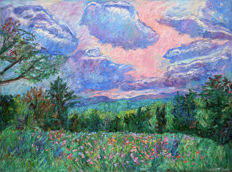 Blue Ridge Mountains Paintings Painting - Pink Light by Kendall Kessler