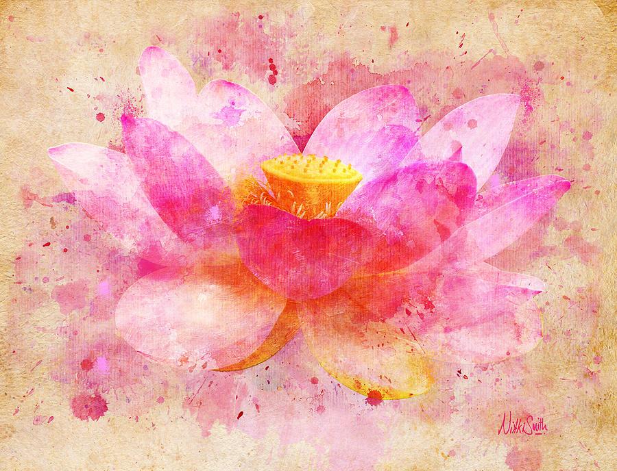 Pink lotus flower abstract artwork digital art by nikki marie smith lotus digital art pink lotus flower abstract artwork by nikki marie smith mightylinksfo