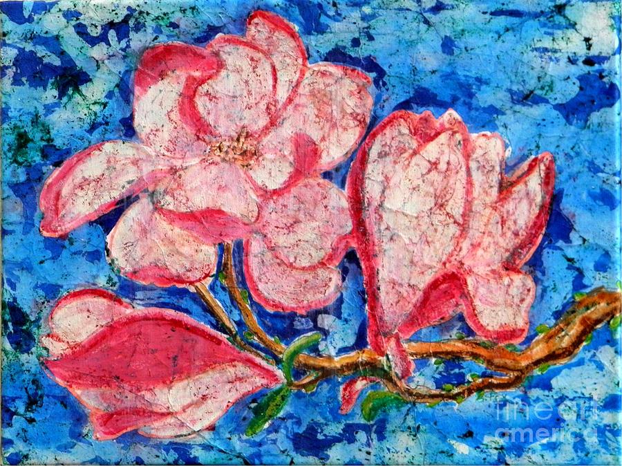Pink Magnolias by Sandra Fox