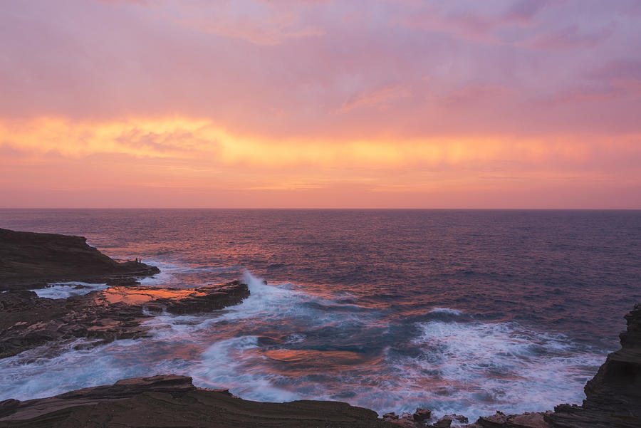 Sunrises Photograph - Pink Oahu Sunrise - Hawaii by Brian Harig