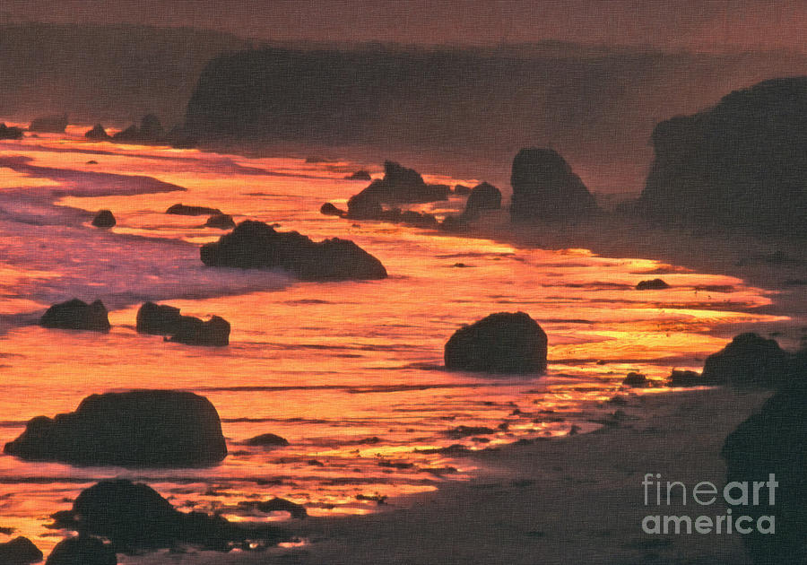 Pacific Ocean Photograph - Pink Ocean by Frank Bez