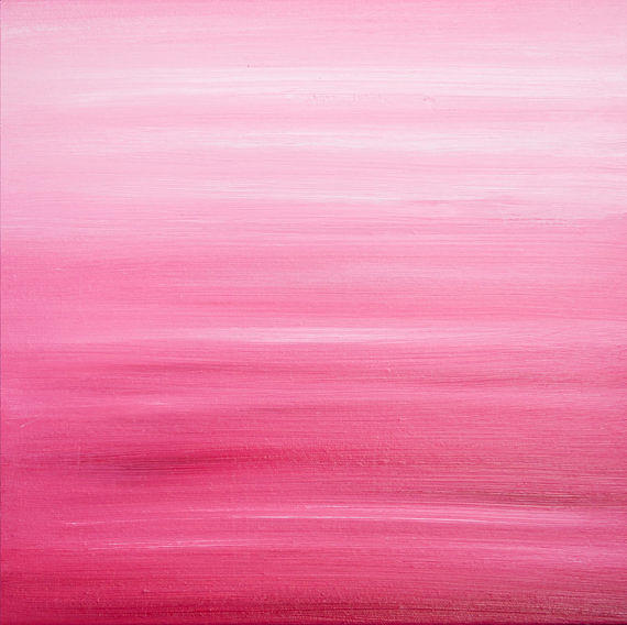 Pink Ombre Painting By Angela Cwayna