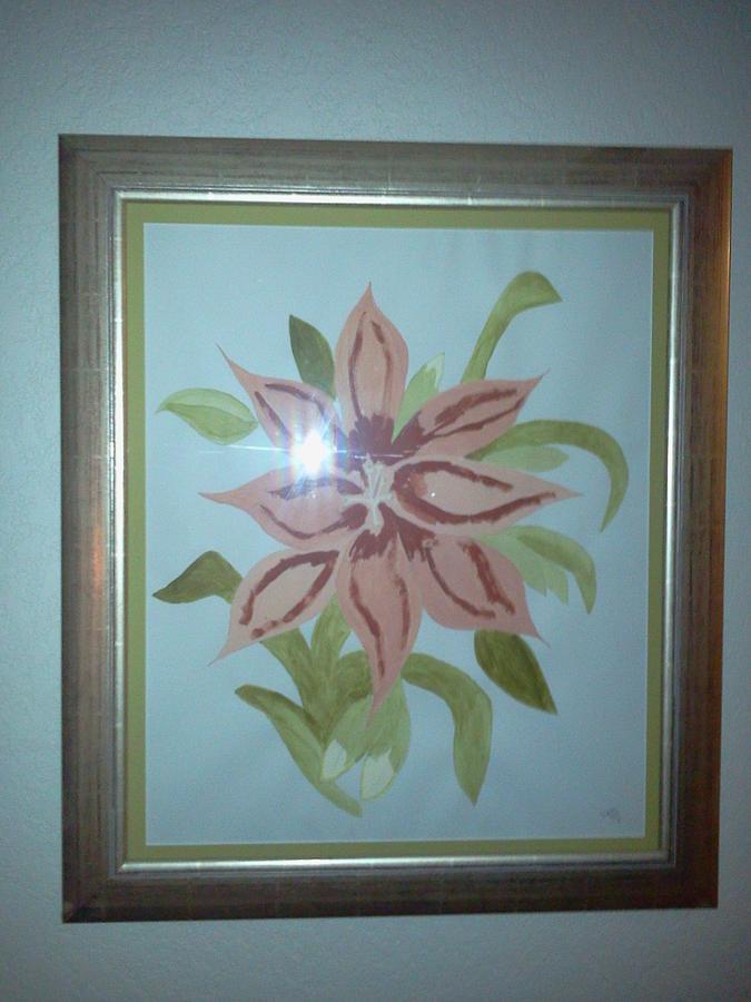 Flower Painting - Pink Orchid by Karen Jensen