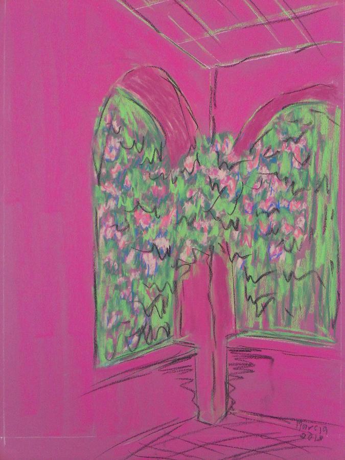 San Miguel De Allende Pastel - Pink Patio by Marcia Meade