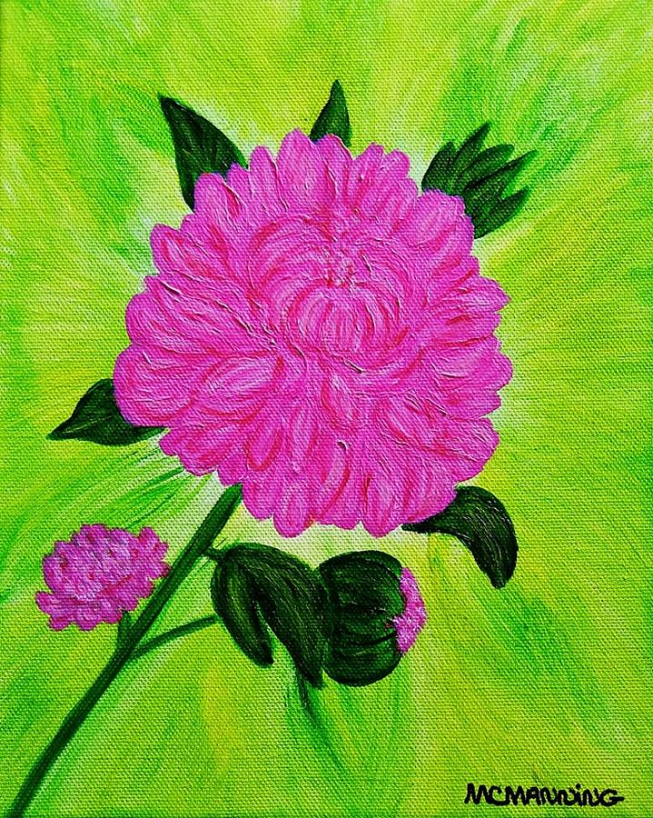 Pink Peony Painting by Celeste Manning