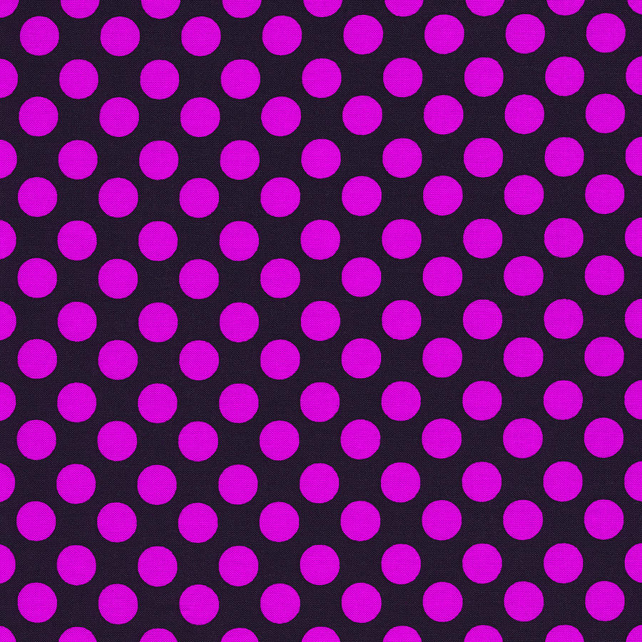 Pink polka dots on black fabric background photograph by keith polka dots photograph pink polka dots on black fabric background by keith webber jr voltagebd Choice Image