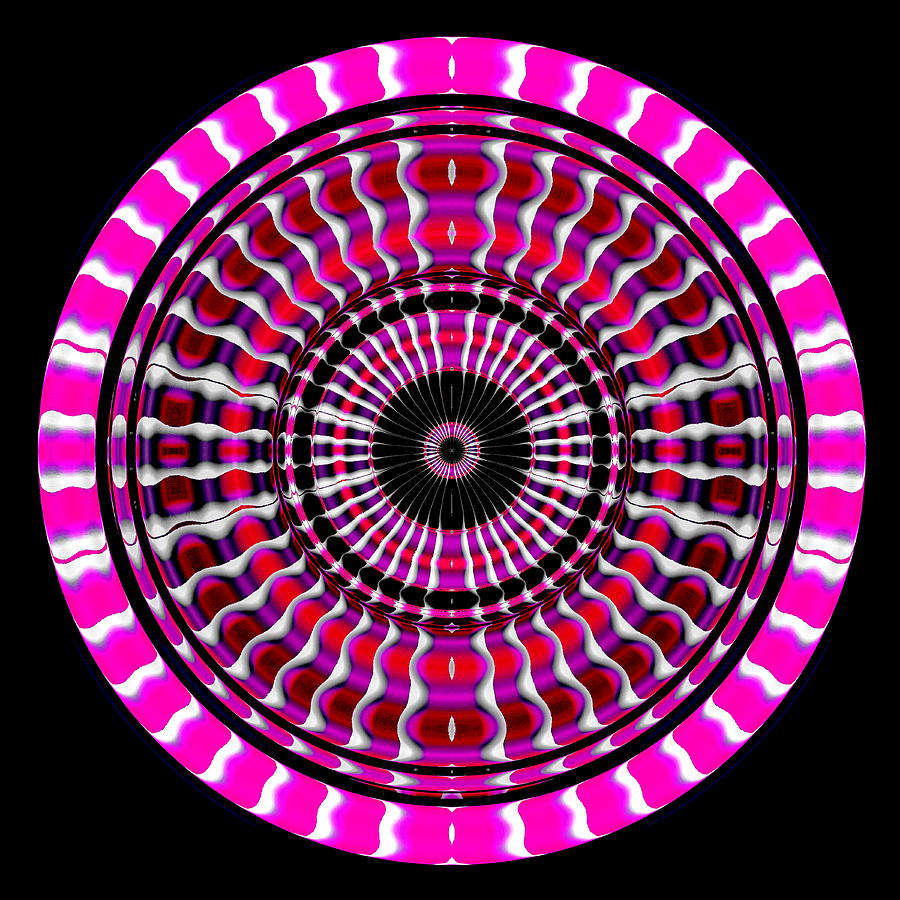 Ring Digital Art - Pink Rings II by Visual Artist  Frank Bonilla