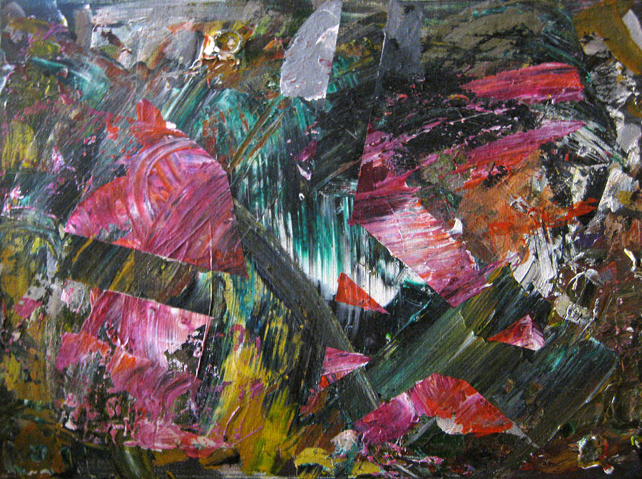 Pink Painting - Pink Rock Tidal Wave by Whitney Wiedner