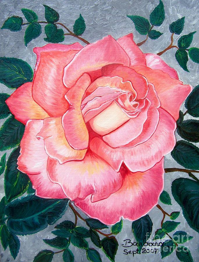 Rose Painting - Pink Rose by Barbara Pelizzoli