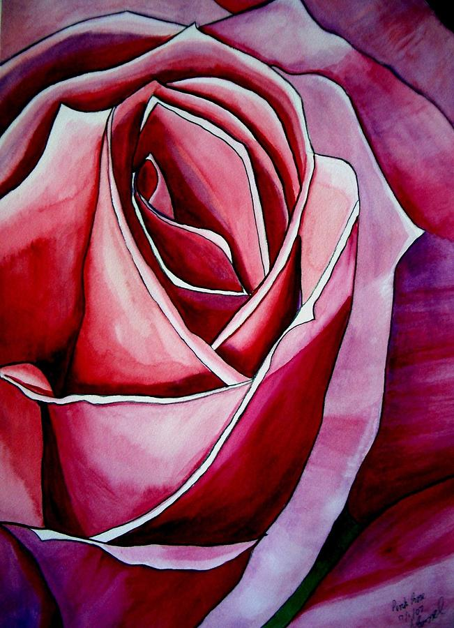 Rose Painting - Pink Rose macro by Sacha Grossel
