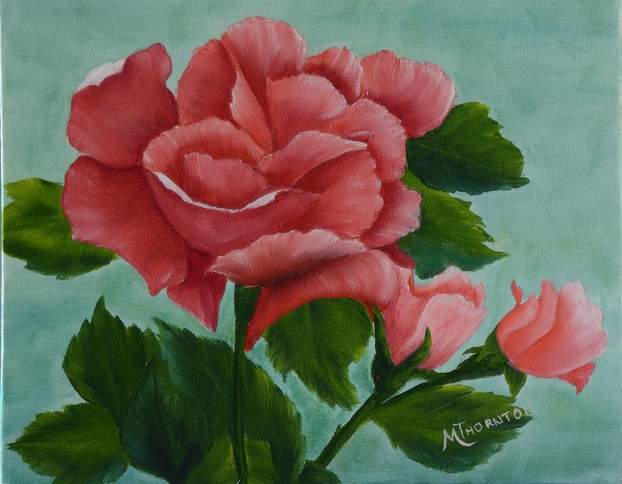 Rose Painting - Pink Rose by Marsha Thornton