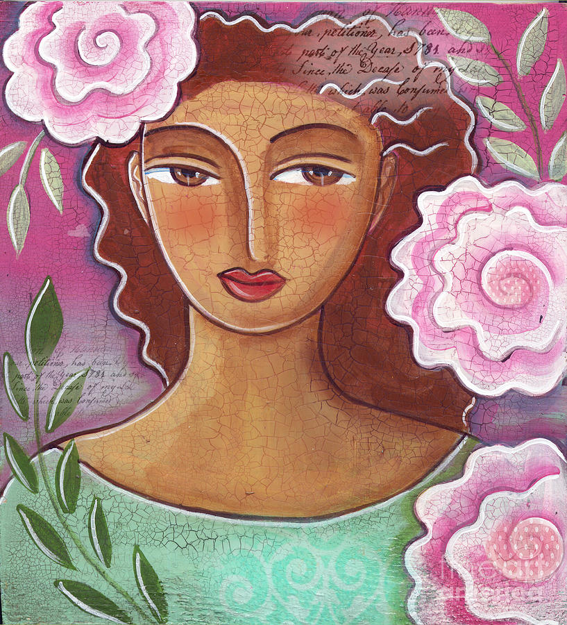 Pink Roses Mixed Media - Pink Roses by Elaine Jackson