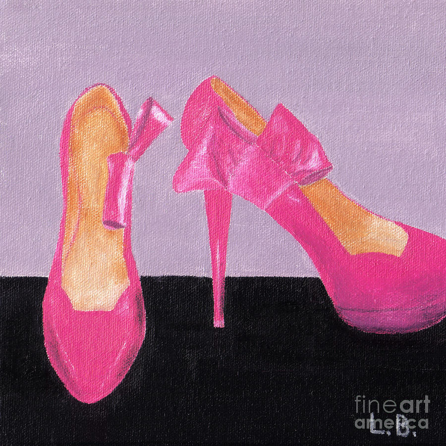 Pink Painting - Pink Shoes by Laurel Best
