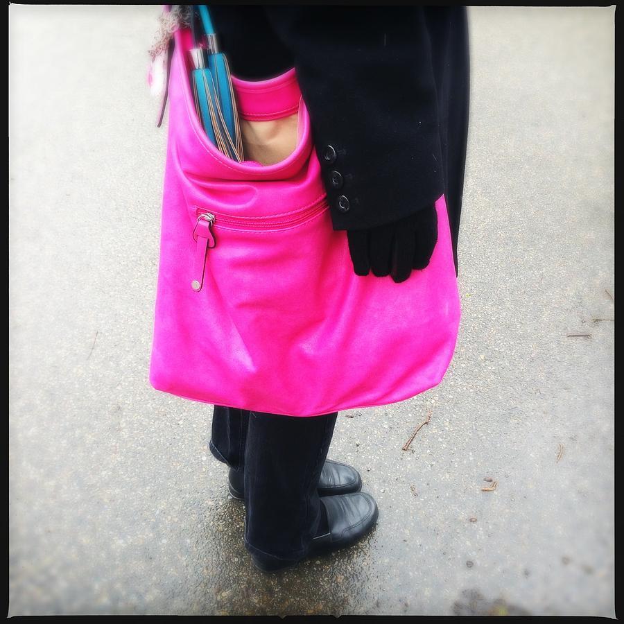 Pink Photograph - Pink shoulder bag by Matthias Hauser