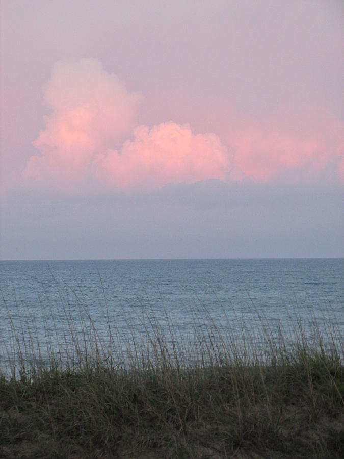 Beach Photograph - Pink Sky by Cheryl Smith