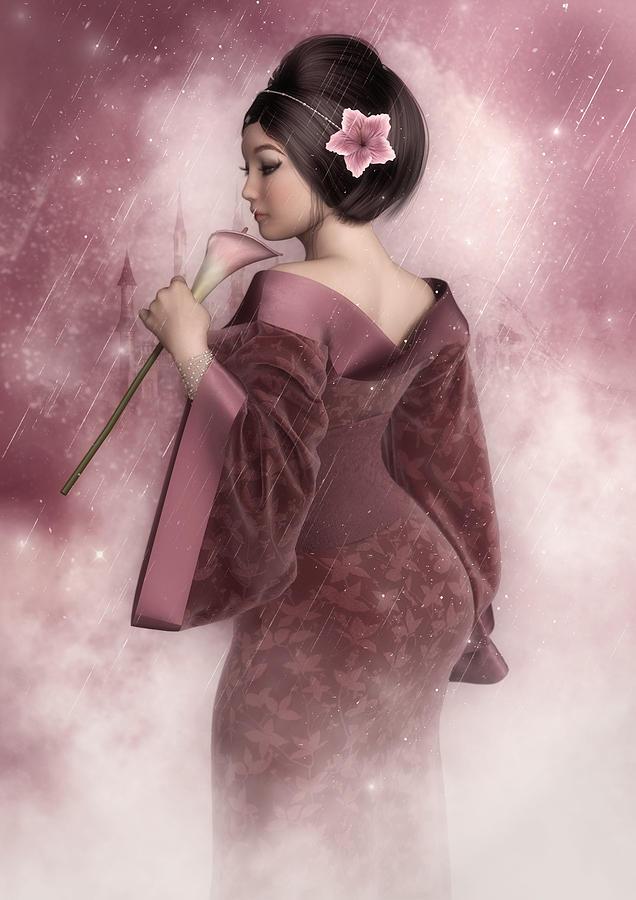 Pink Digital Art - Pink Snow by Rachel Dudley